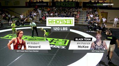 120 lbs Patrick Mckee, Black vs Robert Howard, Green
