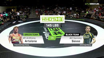 145 lbs Sammy Sasso, Black vs Anthony Artalona, Green