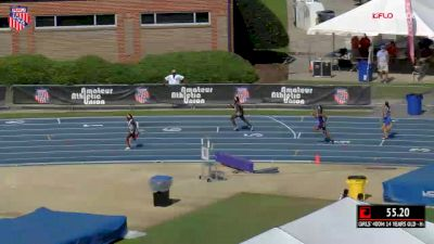 Girls' 400m, Prelims 16 - Age 14 - Cha'iel Johnson 55.92