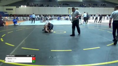 184 3rd Place - Isaac Deaton, Nebraska-Kearney vs Toby Ryals, Air Force