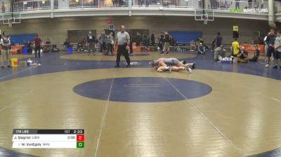 174 3rd Place - Jared Siegrist, Lock Haven-Unattached vs Weston VonEgidy, West Virginia University