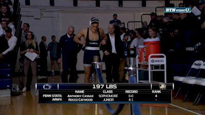 197 lbs Anthony Cassar, PSU vs Rocco Caywood, ARMY