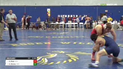 141 3rd Place - Shane Ross, Wesleyan vs Austin Shorey, Southern Maine