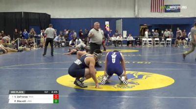 184 3rd Place - Victor DeFrance, Messiah vs Peyton Blauvelt, JWU