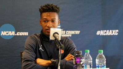 Justyn Knight compares pressure of NCAAs vs World Championships