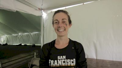Charlotte Taylor after leading the USF team to runner-up finish at NCAAs
