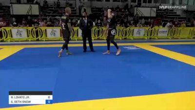 RAFAEL LOVATO JR. vs SAMUEL SETH SNOW 2021 Pan IBJJF Jiu-Jitsu No-Gi Championship