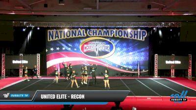United Elite - RECON [2021 L6 Senior Coed Open - Small Day 2] 2021 ACP: Midwest World Bid National Championship