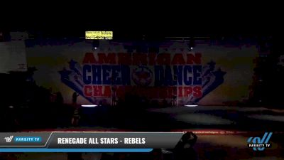 Renegade Allstars - Rebels [2021 L1 Youth - D2 - Small Day 1] 2021 The American Celebration DI & DII