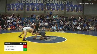 152 lbs 3rd Place - Tyler Badgett, Rancho Bernardo vs Sonny Santiago, St. John Bosco