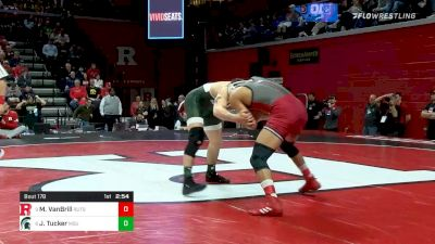 157 lbs Consolation - Michael VanBrill, Rutgers vs Jake Tucker, Michigan State
