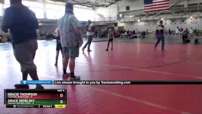 58 lbs Round 2 (4 Team) - Grace Nedelsky, Indiana INFERNO GOLD vs Gracie Thompson, Youtube Wrestlers