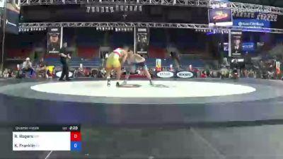 195 lbs Quarterfinal - Rylan Rogers, Washington vs Kolby Franklin, Pennsylvania