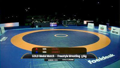 57 kg Final - Thomas Gilman, USA vs Joe Colon, USA