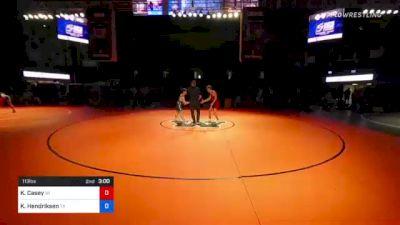 113 lbs 5th Place - Kaleb Casey, Wisconsin vs Kenneth Hendriksen, Texas