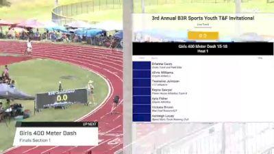Youth Girls' 400m, Finals 1 - Age under 18