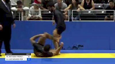 MICHAEL ANTHONY PEREZ vs ANDRÉ LUIZ NOVAES PORFIRIO 2021 World IBJJF Jiu-Jitsu No-Gi Championship