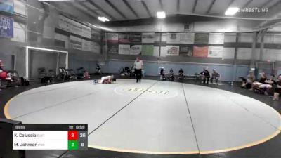88 lbs Prelims - Killian Coluccio, Buxton (NJ) vs Mac Johnson, Roundtree Wrestling Academy