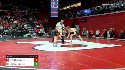 125 lbs Quarterfinal - Alex Thomsen, Nebraska vs Devin Schroder, Purdue