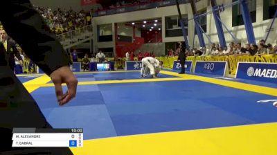 MMICHAEL ALEXANDRE vs YAN CABRAL 2018 World IBJJF Jiu-Jitsu Championship