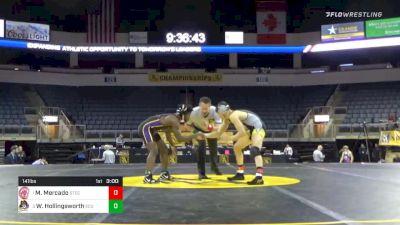 141 lbs Final - Marcos Mercado, Springfield Technical Community College vs Wesley Hollingsworth, East Carolina University