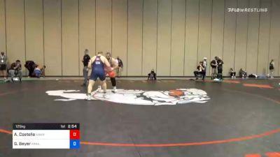 125 kg Consolation - Aaron Costello, Hawkeye Wrestling Club vs Gabriel Beyer, Arkansas Regional Training Center