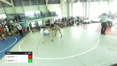191 lbs Consolation - Jordan Carrillo, Pounders WC vs Sarah Gaskin, Pounders WC