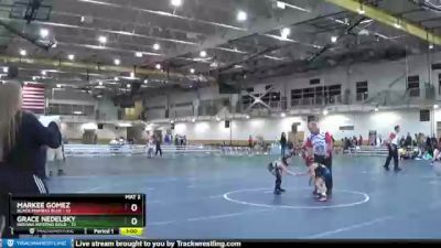 58 lbs Round 3 (4 Team) - Grace Nedelsky, Indiana INFERNO GOLD vs Markee Gomez, Black Mambas Blue