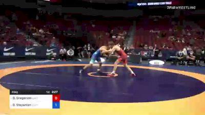 63 kg Semis - Dylan Gregerson, Brunson UVRTC vs David Stepanian, New York Athletic Club