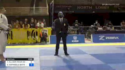 YURI ALLISON PAIVA DOS SANTOS vs GUSTAVO ESPINDOLA BATISTA 2020 Pan Jiu-Jitsu IBJJF Championship