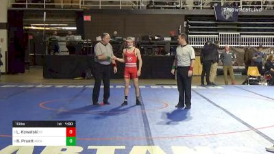 113 lbs 5th Place - Luke Kowalski, St. Johns College Hs vs Brady Pruett, Archbishop Spalding