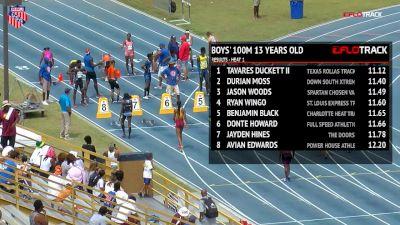 Girls' 100m, Final - Age 14