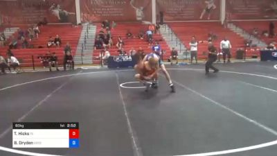 60 kg 5th Place - Thomas Hicks, Tennessee vs Boo Dryden, Gopher Wrestling Club - RTC