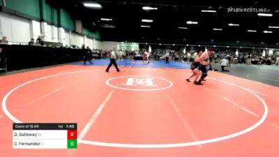 285 lbs Consolation - Dylan Galloway, GA vs Cane Fernandez, FL