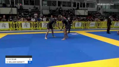 YURI A V SILVA vs CHRISTOPHER WILLIAM HARGETT 2021 Pan IBJJF Jiu-Jitsu No-Gi Championship
