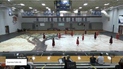 Cypress Falls HS at 2021 TCGC Color Guard Area Finale - North