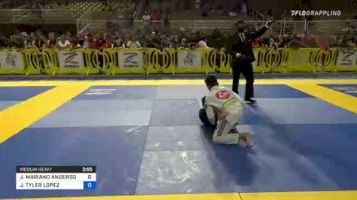 JONATHAN MARIANO ANDERSON vs JAYDEN TYLER LOPEZ 2021 Pan Kids Jiu-Jitsu IBJJF Championship