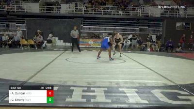 160 lbs 3rd Place - Aurelius Dunbar, Mercersburg Academy vs Connor Strong, Mount Saint Joseph