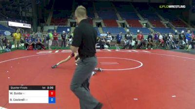 106 lbs Quarterfinal - Wil Guida, New Jersey vs Bryce Cockrell, Oklahoma