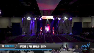 Dazzle U All Stars - Onyx [2021 L3 Junior - D2 - Small Day 2] 2021 Queen of the Nile: Richmond