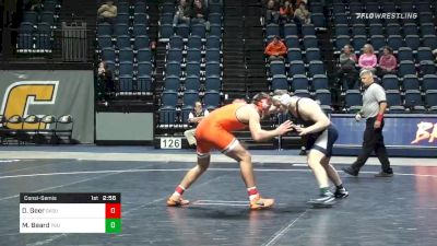 197 lbs Consolation - Dakota Geer, Oklahoma State vs Michael Beard, Penn State