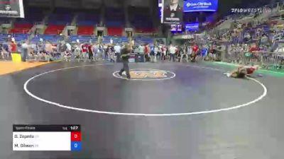 126 lbs Semifinal - Daniel Zepeda, California vs Mason Gibson, Pennsylvania