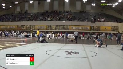 141 lbs Quarterfinal - Gabe Tagg, Unattached vs Carter Noehre, Unattached - Colorado School Of Mines