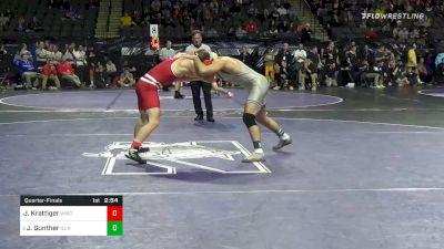 174 lbs Quarterfinal - Jared Krattiger, Wisconsin vs Joey Gunther, Illinois