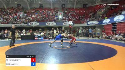 61 lbs Rr Rnd 1 - Nico Megaludis, Titan Mercury Wrestling Club (TMWC) vs Cody Brewer, Titan Mercury Wrestling Club (TMWC)