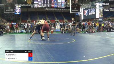 285 lbs Cons 32 #2 - Walker Graham, Oklahoma vs Grant Warmuth, Indiana