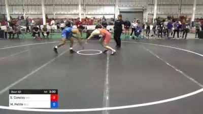 74 kg Prelims - Sammy Cokeley, Indiana RTC vs Marcus Petite, Bulls Wrestling Club