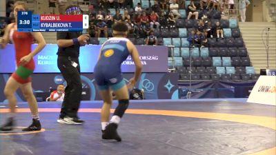 57 kg Final 3-5 - Uladzislava Kudzin, Belarus vs Tancholpon Kybalbekova, Kyrgyzstan