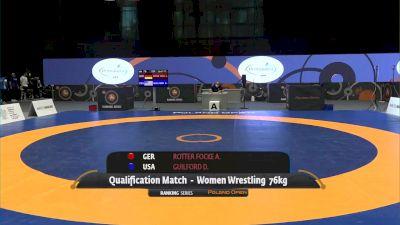 76kg Qualification - Aline Rotter Focken, GER vs Dymond Guilford, USA