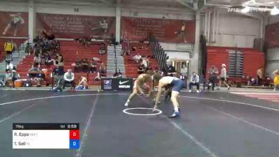 79 kg Consolation - Ryan Epps, Gopher Wrestling Club - RTC vs Thomas Sell, Tennessee